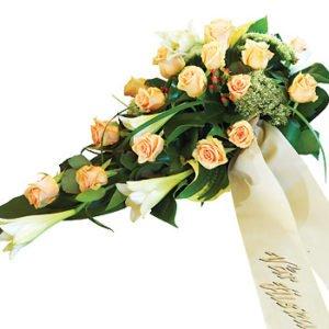 Wieniec kremowe róże