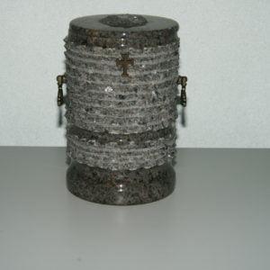 Urna szara z krzyżem